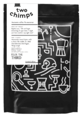 Felix the third two chimps coffee packaging