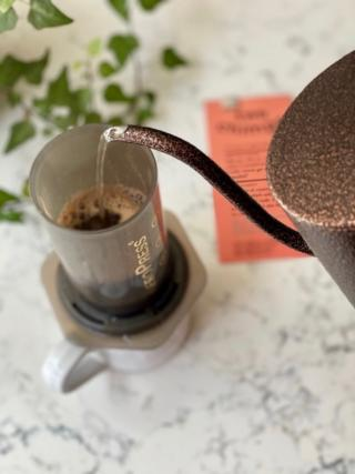 Pouring kettle and aeropress
