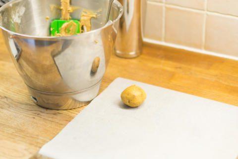 Dough balls ready to bake