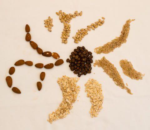 Swirled pattern made from non-dairy milk ingredients - best milk for coffee