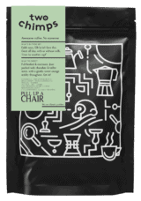 pull up a chair single origin coffee - two chimps png
