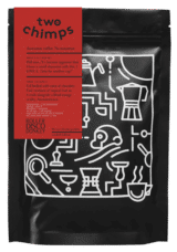 a png image of a two chimps coffee bag - roller disco donkey - single origin from Nicaragua
